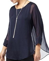 Phase Eight Cecilia Silk Blouse Navy
