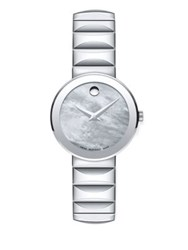 Movado Sapphire Stainless Steel Bracelet Watch Silver