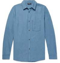 A.P.C. Slim Fit Washed Denim Shirt Indigo
