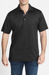 Men's Peter Millar Egyptian Cotton Lisle Polo Black