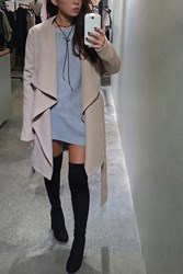Forever 21 Brushed Self Tie Coat