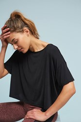 Anthropologie Cross Backed Top Black