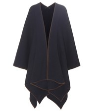 The Row Dusana Wool And Cashmere Poncho Blue