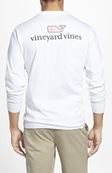 Vineyard Vines Men's Logo Pocket Long Sleeve Crewneck T Shirt