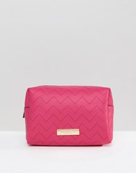 Carvela Ryley Rectangle Cosmetic Bag Pink Comb