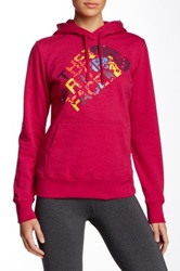 The North Face Abstract Flower Pullover Hoodie Red