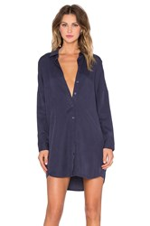 Blaque Label Button Up Shirt Dress Navy
