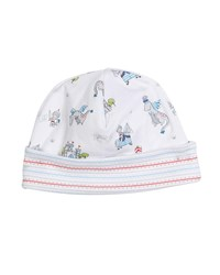 Kissy Kissy King Of The Castle Printed Baby Hat Blue