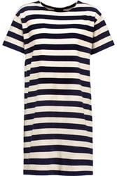 Nlst Striped Cotton Jersey Mini Dress Navy