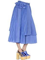 Rochas Cotton And Silk Voile Skirt W Ruffles
