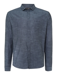 Label Lab Marvin Chambray Shirt Blue