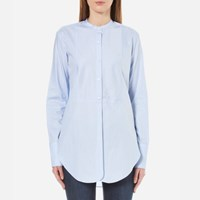 Helmut Lang Women's Oxford Tuxedo Shirt Medium Blue
