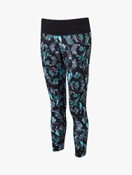 Ronhill Momentum Cropped Running Tights Blue Multi