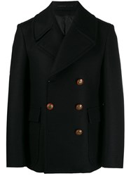 Givenchy Unicorn Buttons Double Breasted Coat Black