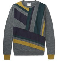 Wooyoungmi Panelled Wool Sweater Gray
