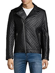 American Stitch Quilted Moto Jacket Black