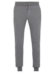 Frescobol Carioca Drawstring Tapered Cotton Blend Track Pants Grey