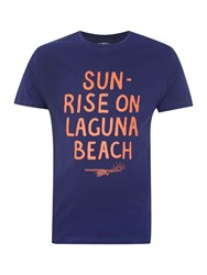 Criminal Laguna Beach Printed T Shirt Navy