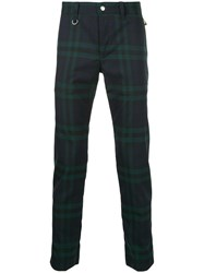 Hysteric Glamour Checkered Zip Back Skinny Trousers Green