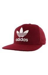 Adidas Men's Originals 'Trefoil Plus' Snapback Cap Red Maroon White