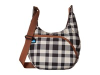 Kavu Singapore Satchel Bw Plaid Hobo Handbags Black