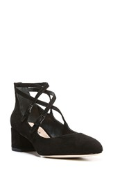 Via Spiga Women's Adonna Block Heel Pump Black Suede