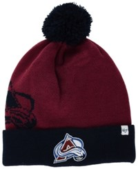 '47 Brand Colorado Avalanche Double Stack Pom Knit Hat