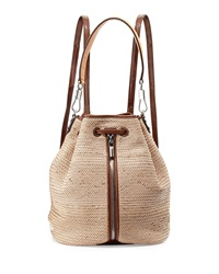 Elizabeth And James Cynnie Woven Drawstring Backpack Natural