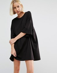 Weekday Huge T Shirt Dress Black