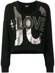 Just Cavalli Printed Sweatshirt Black