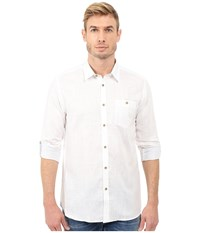Ted Baker Linnoo Linen Roll Up Shirt White Men's Long Sleeve Button Up