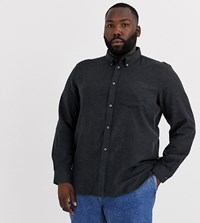 French Connection Plus Plain Flannel Shirt Grey