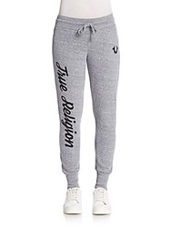True Religion Slim Rhinestone Detailed Sweatpants Heather Gr