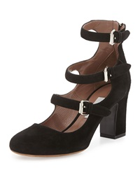 Tabitha Simmons Ginger Triple Buckled Suede Pump