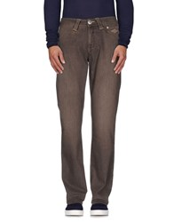 Carlo Chionna Denim Denim Trousers Men Dark Brown