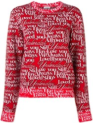 Balenciaga Crew Neck Jumper Red