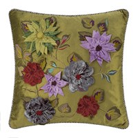 Mackenzie Childs Greengage Floral Cushion 50X50cm