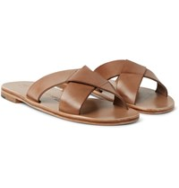Alvaro Antonio Leather Sandals Brown