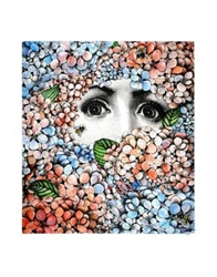 Fornasetti Oblong Scarves Sky Blue