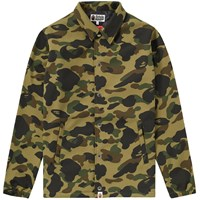 A Bathing Ape 1St Camo Windstopper Coach Jacket Green