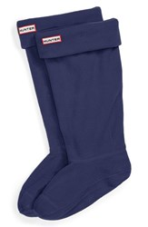 Women's Hunter Original Tall Fleece Welly Socks Navy Fleece