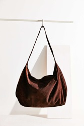 Ecote Embossed Suede Weekender Bag Brown