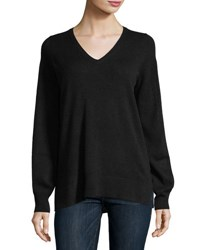 Christopher Fischer Cashmere Blouson Sleeve Sweater Black