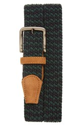 Men's The Tie Bar Two Tone Braided Belt Navy