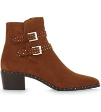The Kooples Studded Suede Ankle Boots Cog01