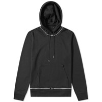 Helmut Lang Zip Away Popover Hoody Black