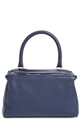 Givenchy 'Small Pandora' Leather Satchel Blue Navy