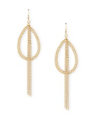 Ettika Chain Tassel Drop Earrings Gold