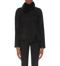 Joseph Anais Toscana Sheepskin Jacket 010 Black