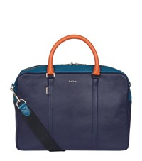 Paul Smith Leather Briefcase Navy